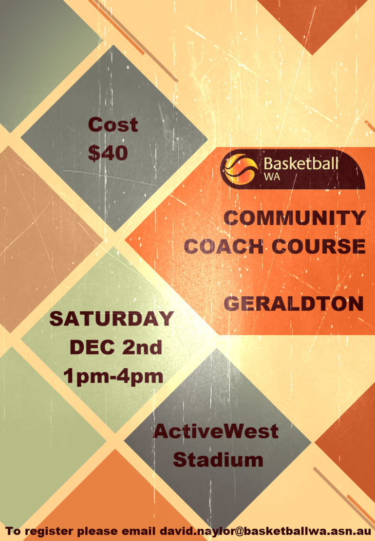 Community Coach Course in Geraldton