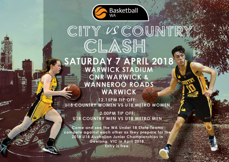 2018 U18 State Teams City v Country Clash
