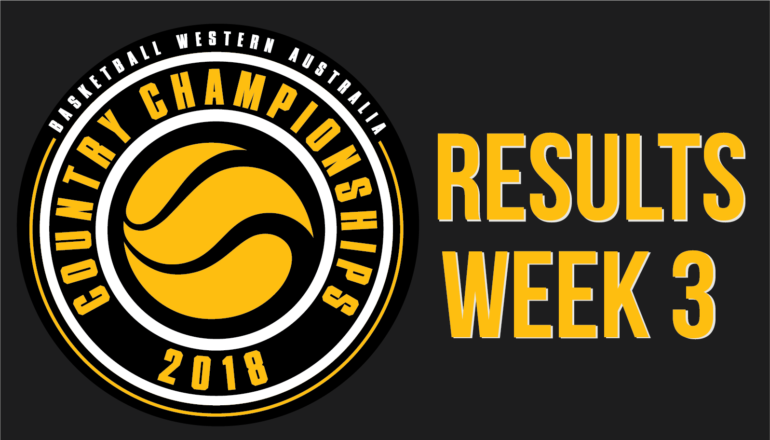 Country Champs Results – Week 3