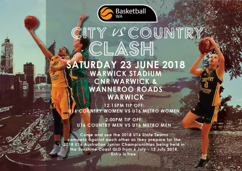 2018 U16 State Teams – City Vs Country Clash