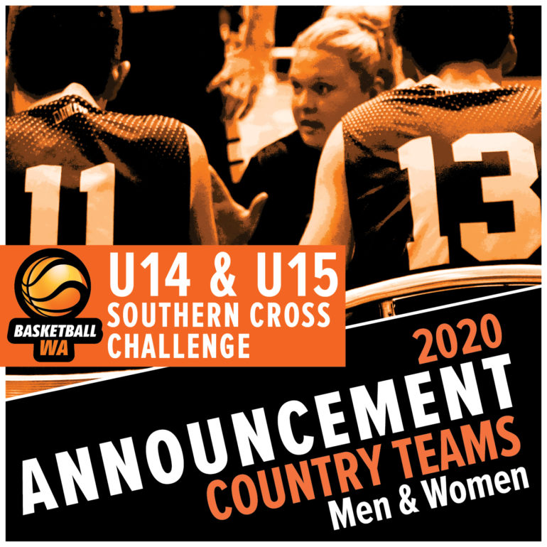 Announcement – U14 & U15 Southern Cross Challenge Country Teams for 2020