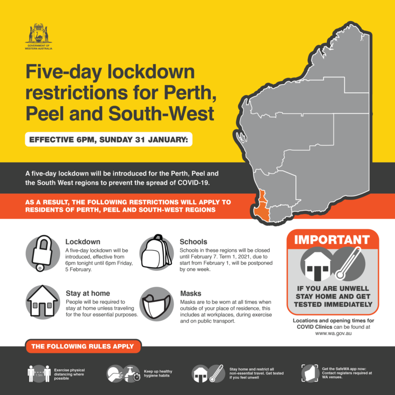 Five-Day Lockdown – BWA Activities and Bendat Basketball Centre