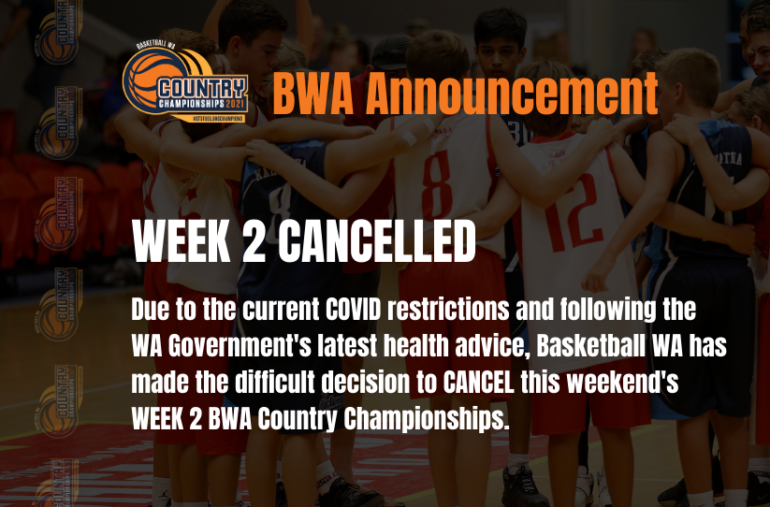 BWA COUNTRY CHAMPIONSHIPS – WEEK 2 CANCELLED