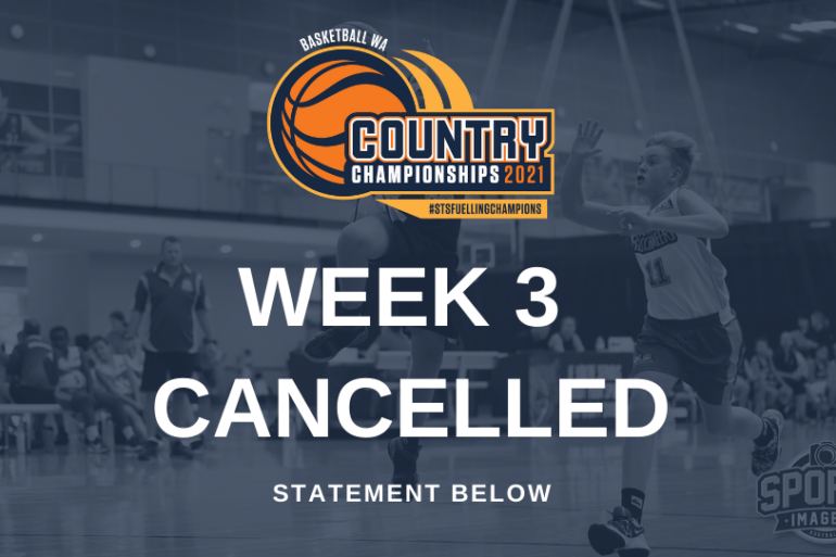 ANNOUNCEMENT – Week 3 BWA Country Championships Cancelled.